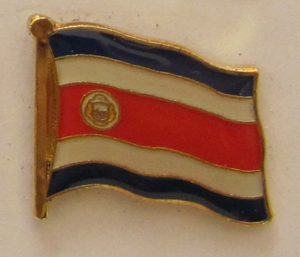 Costa Rica Pin Anstecker Flagge Fahne Nationalflagge