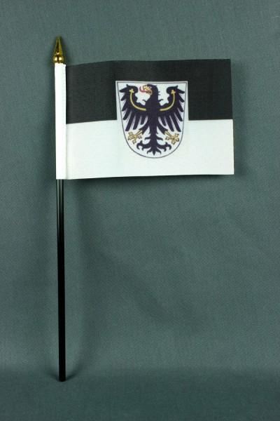 Kleine Tischflagge Ostpreussen Preußen 10x15 cm optional mit Tischfähnchenständer