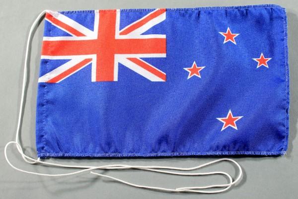 Tischflagge Neuseeland 25x15 cm optional mit Holz- oder Chromständer Tischfahne Tischfähnchen