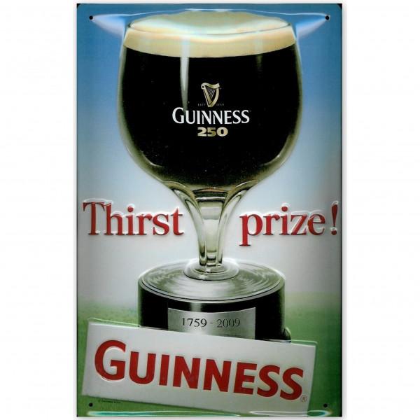 Blechschild Guinness Thirst Prize Bier Schild Kneipenschild