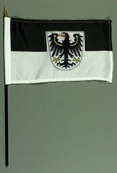 Tischflagge Ostpreussen 15x25 cm BASIC optional mit Tischflaggenständer