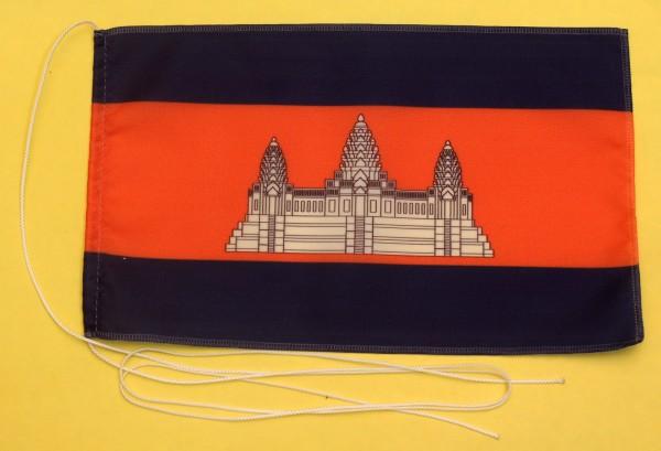 Tischflagge Kambodscha 25x15 cm optional mit Holz- oder Chromständer Tischfahne Tischfähnchen