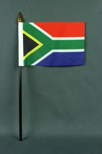 Kleine Tischflagge Südafrika 10x15 cm optional mit Tischfähnchenständer