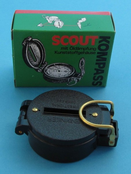 Herbertz Scout Kompass mit Kunststoffgehäuse Marschkompass