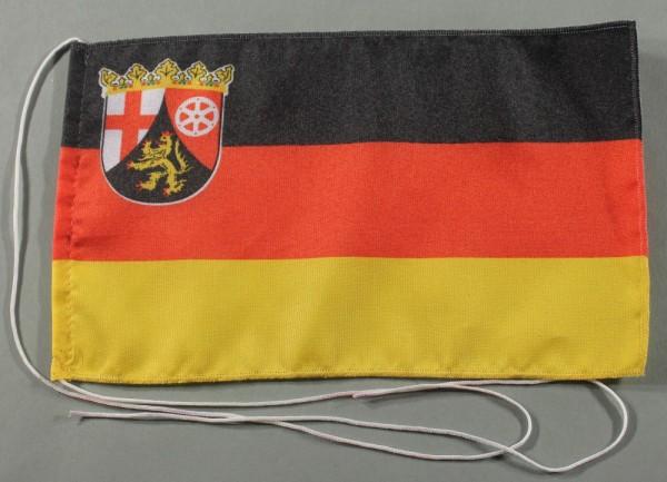 Tischflagge Rheinland Pfalz 25x15 cm optional mit Holz- oder Chromständer Tischfahne Tischfähnchen