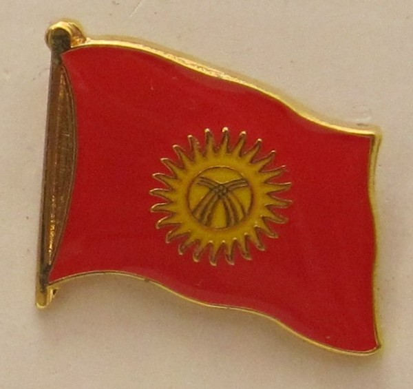 Kirgistan Pin Anstecker Flagge Fahne Nationalflagge