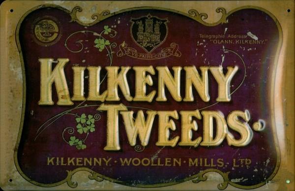 Blechschild Nostalgieschild Kilkenny Tweeds