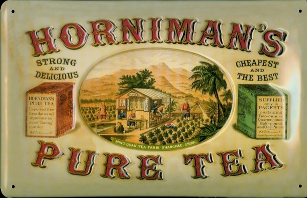 Blechschild Horniman Pure Tea Tee Schild retro Nostalgieschild
