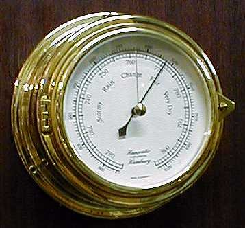 Schiffs Barometer 180 mm Messing