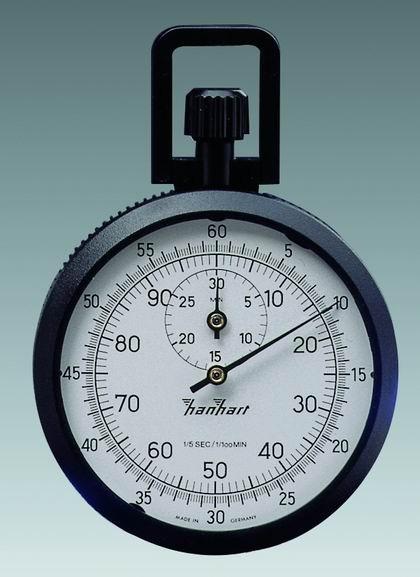 Mechanische analog Kronen Stoppuhr Hanhart ABS 1/5 sec + 1/100 min 30 min