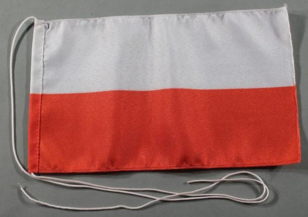 Tischflagge Polen 25x15 cm optional mit Holz- oder Chromständer Tischfahne Tischfähnchen