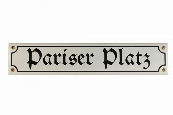Strassenschild Pariser Platz 40x8 cm Berlin Souvenir Email Strassen Schild Emaille