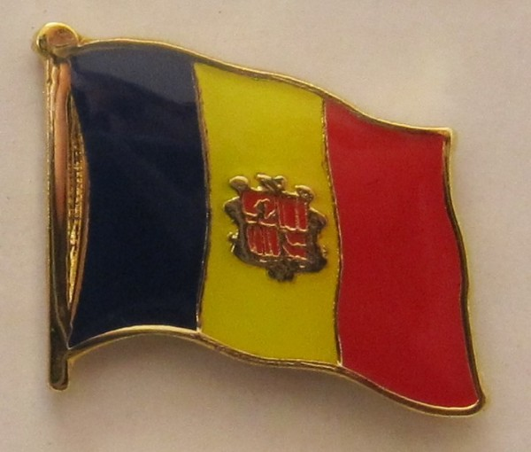 Pin Anstecker Flagge Fahne Andorra Nationalflagge Flaggenpin Button Badge Flaggen Clip Anstecknadel