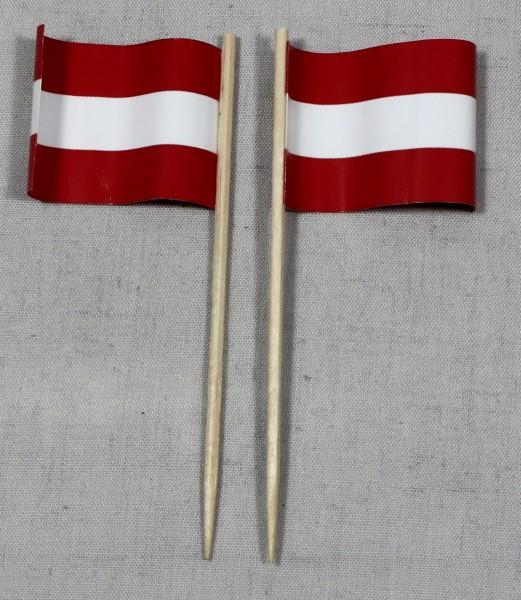 Party-Picker Flagge Österreich Papierfähnchen in Spitzenqualität 50 Stück Beutel