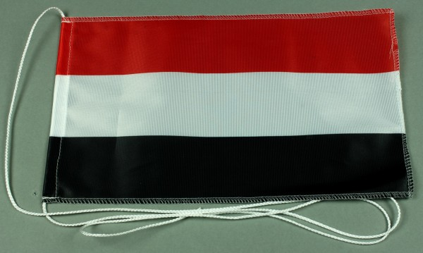 Tischflagge Jemen 25x15 cm optional mit Holz- oder Chromständer Tischfahne Tischfähnchen
