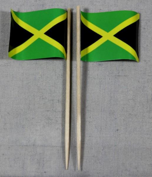Party-Picker Flagge Jamaika Papierfähnchen in Spitzenqualität 50 Stück Beutel Jamaica