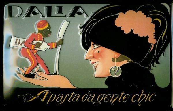 Blechschild Dalla Zahnpasta Zahnbürste Hotelpage Dalia Schild retro Werbeschild Nostalgieschild