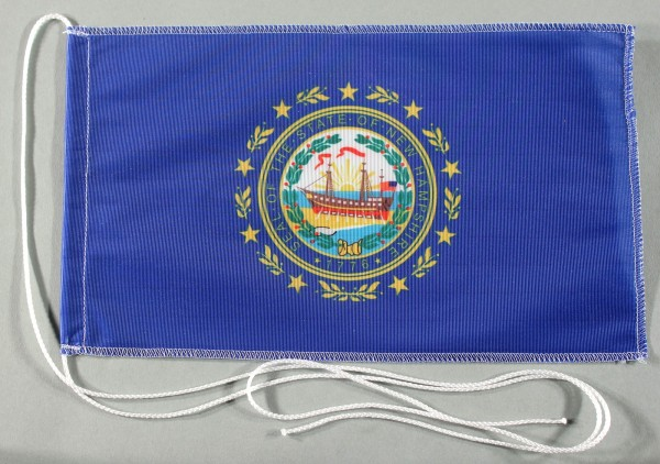 Tischflagge New Hampshire USA Bundesstaat US State 25x15 cm optional mit Holz- oder Chromständer Tis