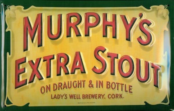 Blechschild Murphy Extra Stout - Ladys Well Brewery Cork Irland Bier Schild