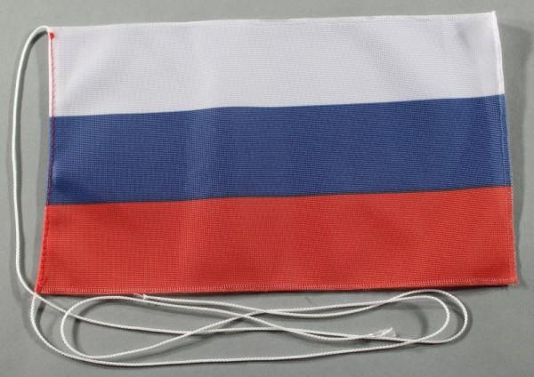 Tischflagge Russland 25x15 cm optional mit Holz- oder Chromständer Tischfahne Tischfähnchen