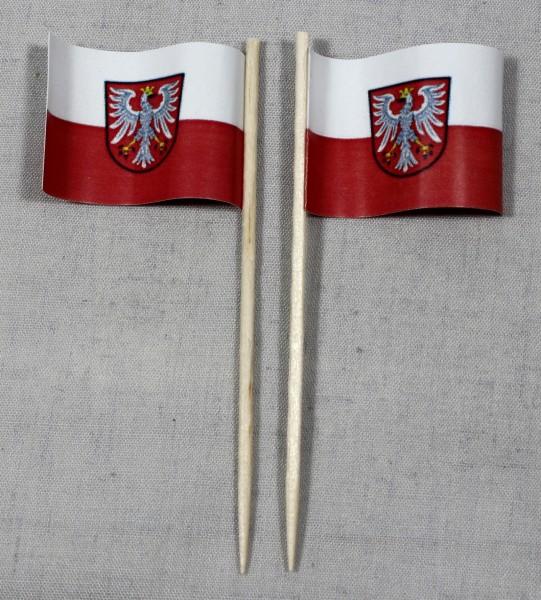 Party-Picker Flagge Frankfurt am Main Papierfähnchen in Spitzenqualität 50 Stück Beutel