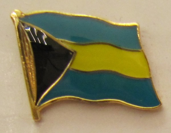 Bahamas Pin Anstecker Flagge Fahne Nationalflagge