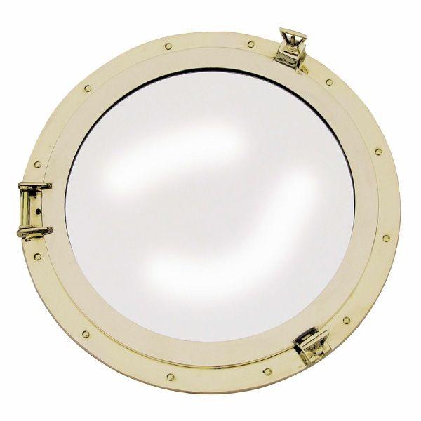 Bullaugen Spiegel 500 mm Messing Bullauge Bullaugenspiegel