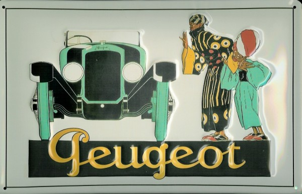 Blechschild Peugeot Oldtimer Nostalgieschild Schild