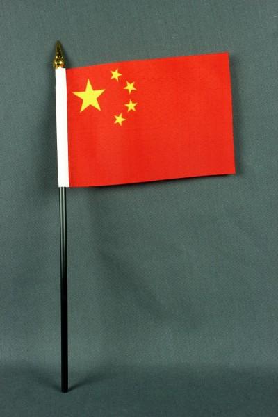 Kleine Tischflagge China 10x15 cm optional mit Tischfähnchenständer