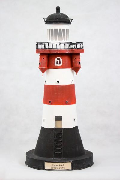 Blechleuchtturm Roter Sand 42,5 cm Leuchtturm Modell mit Teelichthalter
