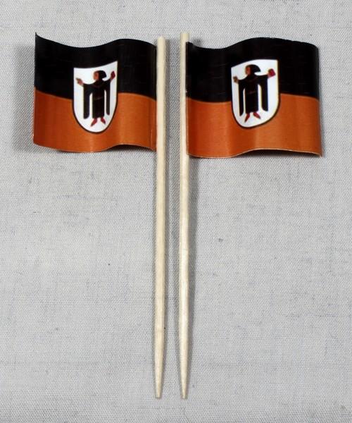 Party-Picker Flagge München Papierfähnchen in Spitzenqualität 50 Stück Beutel