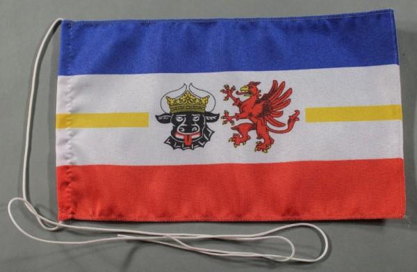 Tischflagge Mecklenburg Vorpommern Meckpom 25x15 cm optional mit Holz- oder Chromständer Tischfahne