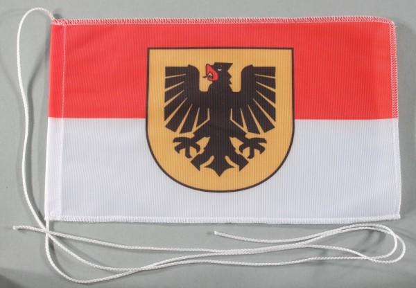 Tischflagge Dortmund Stadtflagge 25x15 cm optional mit Holz- oder Chromständer Tischfahne Tischfähnc