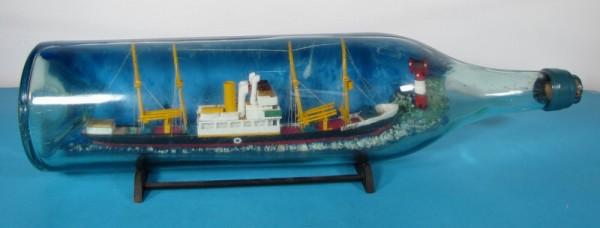 Buddelschiff Dampfer SAALE 3 in 3 Liter Flasche