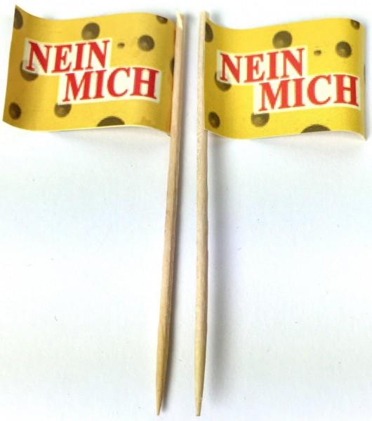 Party-Picker Flagge Nein Mich Papierfähnchen in Spitzenqualität 50 Stück Beutel