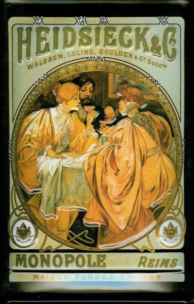 Blechschild Heidsieck Monopole Champagner Reims retro Schild Nostalgie Werbeschild