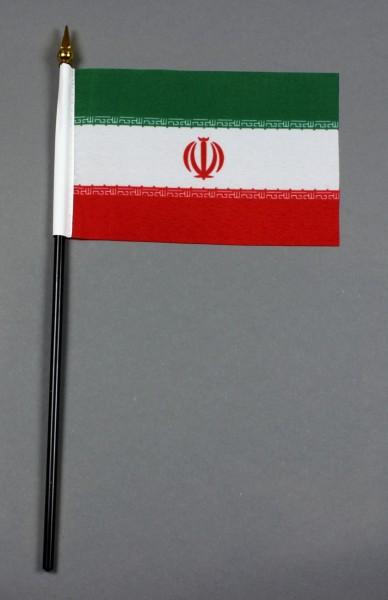 Kleine Tischflagge Iran 10x15 cm optional mit Tischfähnchenständer