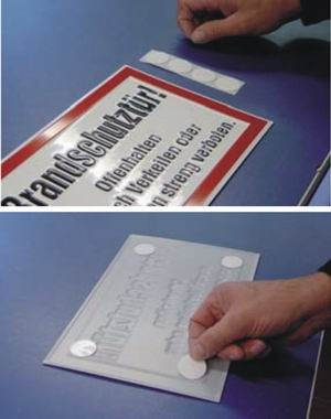 Befestigungspunkte PE-Schaumband 1 mm doppelseitig