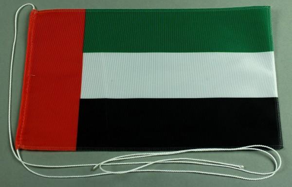 Tischflagge Vereinigte Arabische Emirate VAE UAE 25x15 cm optional mit Holz- oder Chromständer Tisch