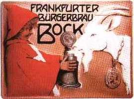 Blechschild Frankfurter Bürgerbräu Bock Bier retro Schild Werbeschild