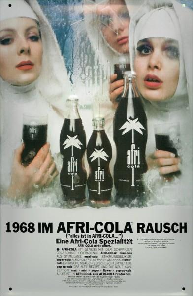 Blechschild Afri Cola Rausch drei Nonnen Retro Schild Werbeschild