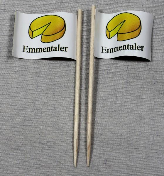 Party-Picker Flagge Emmentaler Käse Papierfähnchen in Spitzenqualität 50 Stück Beutel