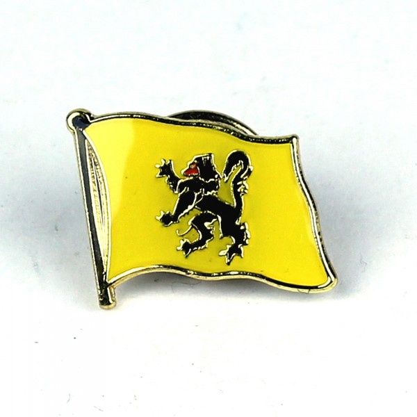 Pin Anstecker Flagge Fahne Flandern Flaggenpin Button Badge Flaggen Clip Anstecknadel