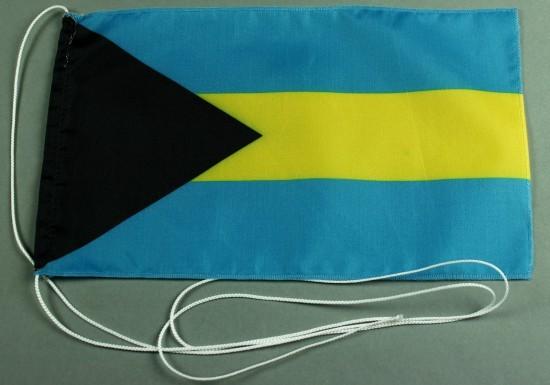 Tischflagge Bahamas 25x15 cm optional mit Holz- oder Chromständer Tischfahne Tischfähnchen