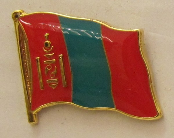 Mongolei Pin Anstecker Flagge Fahne Nationalflagge