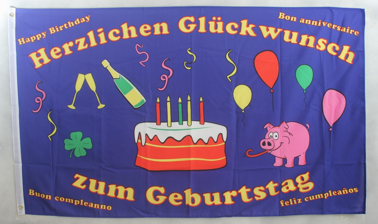 Geburtstag Hissflagge 90 x 150 cm Flagge Fahne Happy Birthday 50