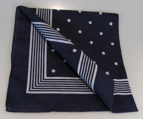 Vierecktuch große Punkte blau 70x70 cm Kopftuch Schal