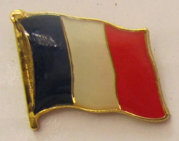 Pin Anstecker Flagge Fahne Frankreich Nationalflagge Tricolore Flaggenpin Button Badge Flaggen Clip