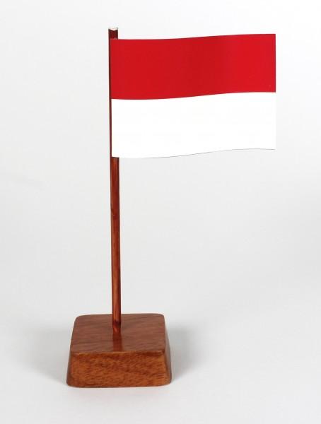 Mini Tischflagge Indonesien Höhe 13 cm Tischfähnchen