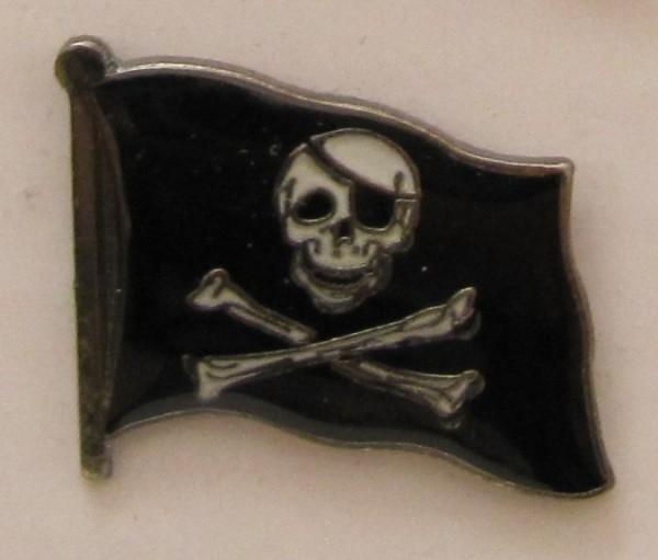 Pin Anstecker Flagge Fahne Pirat Totenkopf Flaggenpin Button Badge Flaggen Clip Anstecknadel